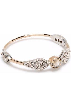 Pascale Monvoisin Damen Ringe - 9kt Adèle N°1 Goldring mit braunen Diamanten