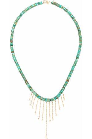 Pascale Monvoisin Taylor N°3 Halskette aus 9kt und 14kt Gelbgold mit Türkis