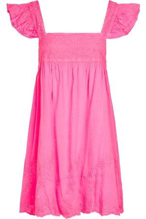 Juliet Dunn Besticktes Minikleid aus Baumwolle