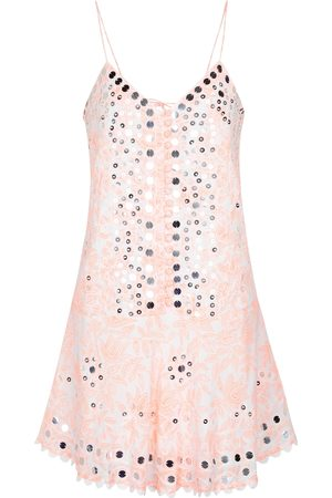 Juliet Dunn Verziertes Minikleid aus Baumwolle