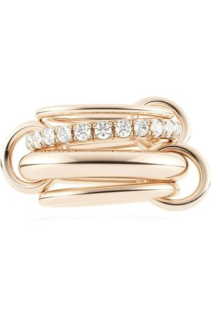 Spinelli Kilcollin 18kt 'Four Link Luna Rose' Rotgoldring mit Diamanten