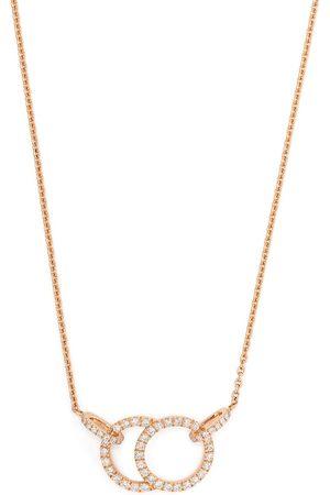 Courbet Damen Halsketten - 18kt Rotgoldhalskette mit Diamanten