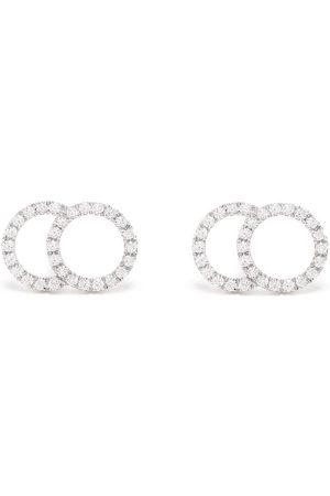 Courbet Damen Ohrringe - 18kt Weißgoldohrringe mit Diamanten