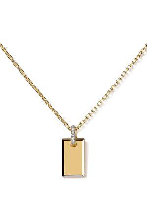 AS29 Damen Halsketten - 18kt Gelbgoldhalskette mit kleinem Diamant-Anhänger