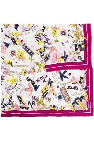 Karl Lagerfeld RSG Schal mit Surf Elements-Print