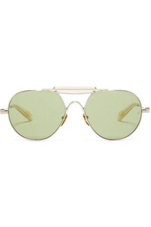 Jacques Marie Mage Bastogne Aviator Titanium Sunglasses