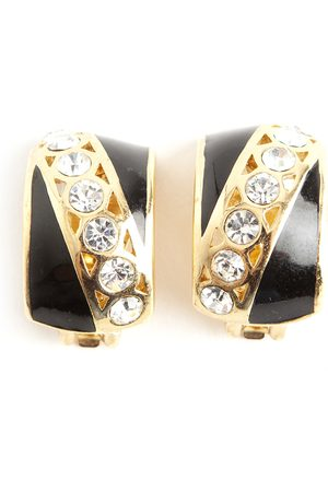 Dior Pre-owned Authentic Art Deco chrystal clip on earrings , Damen, Größe: One size