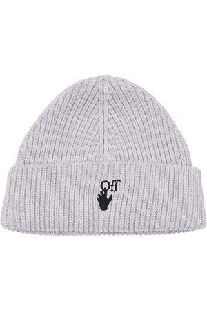OFF-WHITE Logo Hand Off Knit Cotton & Lurex Beanie
