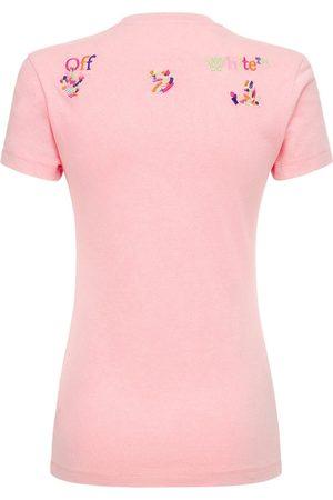 OFF-WHITE Damen T-Shirts, Polos & Longsleeves - T-shirt Aus Baumwolle, Lvr Exclusive