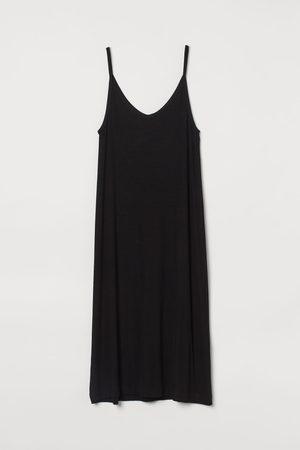 H & M Damen Freizeitkleider - Geripptes Jerseykleid