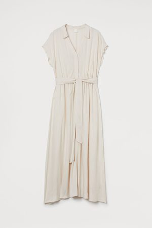 H & M Damen Freizeitkleider - Blusenkleid mit Bindegürtel