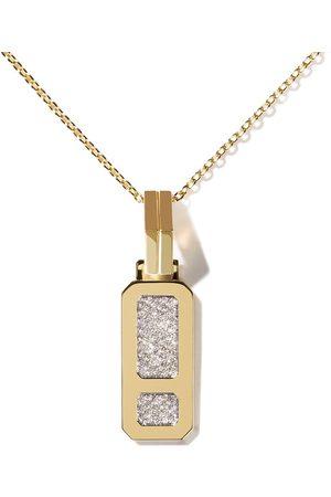 AS29 Damen Halsketten - 18kt Gelbgoldhalskette mit DNA Diamantanhänger