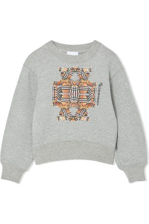 Burberry Longsleeves - Bear-print long-sleeve sweatshirt