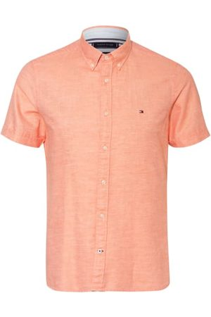 Tommy Hilfiger Kurzarm-Hemd Slim Fit Mit Leinen orange