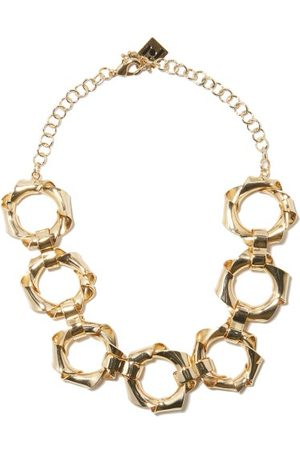 Rosantica Bamboo Crystal Brass Necklace
