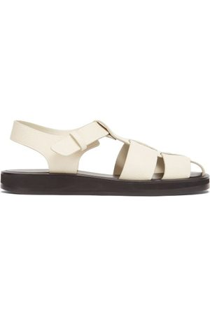 The Row Grained-leather Fisherman Sandals