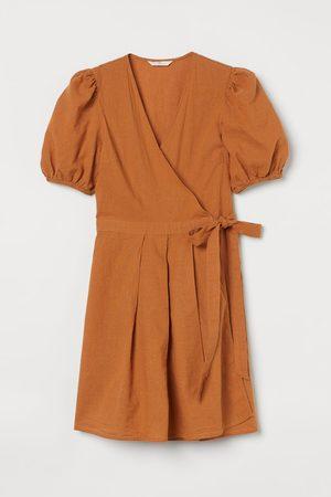 H & M Wickelkleid aus Leinenmix