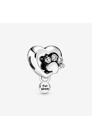 PANDORA Damen Uhren - Funkelndes Hundepfotenabdruck & Herz Charm