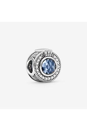 Pandora Damen Uhren - Funkelndes blaues Crown O Charm