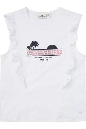TOM TAILOR Mädchen T-Shirt mit Rüschen und Print, , Gr.140