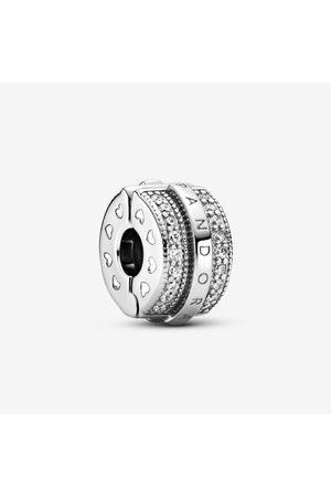 PANDORA Damen Armbänder - Funkelnde Pavé-Reihen & Logo Clip-Charm