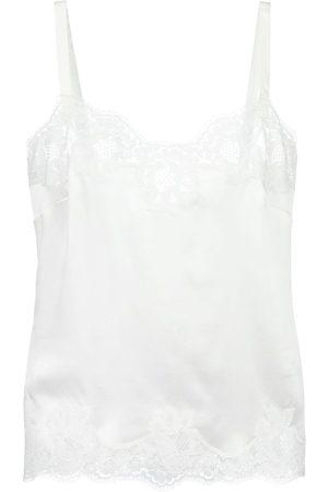 Dolce & Gabbana Damen Unterhemden & Unterziehshirts - Camisole-Kleid mit Spitzeneinsätzen