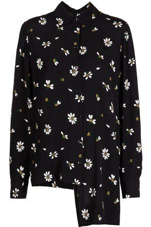 ROSETTA GETTY Damen Blusen - Hemd mit Blumen-Print