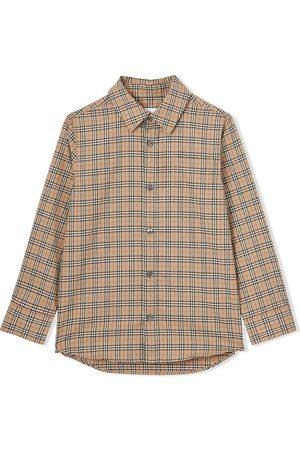 Burberry Longsleeves - Check-print long-sleeve shirt