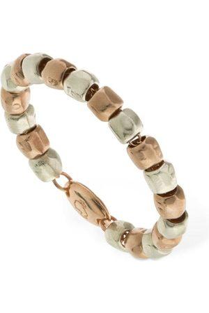 "Dodo 9kt Roségold- & Silber-ring ""granelli"""