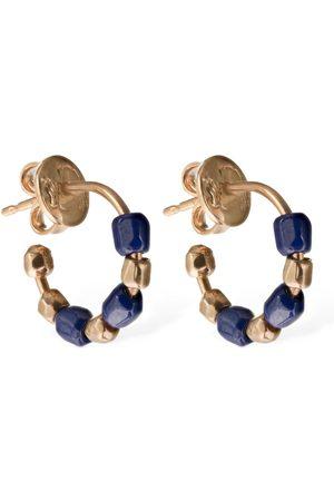 "Dodo Ohrringe Aus 9kt Gold & Blauer Keramik ""granelli"""
