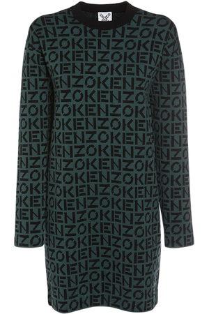 Kenzo Minikleid Aus Baumwoll/lurexmischstrick