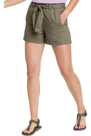 Eddie Bauer Damen Shorts - Leinen Shorts Damen Gr. 4