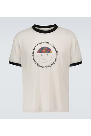 THE ELDER STATESMAN Gestricktes T-Shirt Search For Meaning
