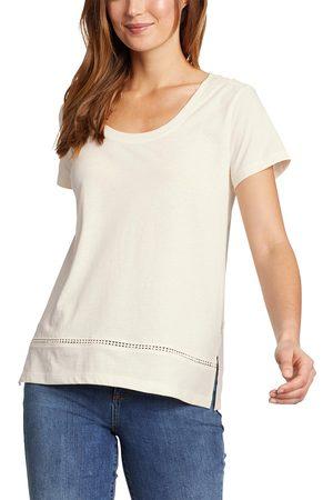 Eddie Bauer Damen T-Shirts, Polos & Longsleeves - Myriad T-Shirt mit Lochspitze Damen Natur Gr. XS
