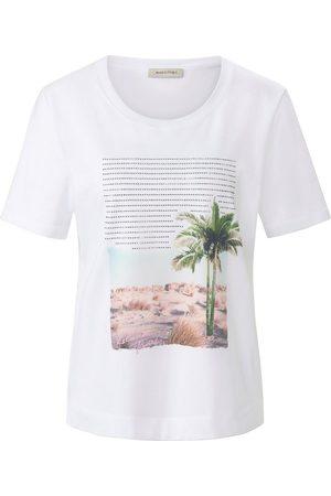 Margittes Rundhals-Shirt weiss