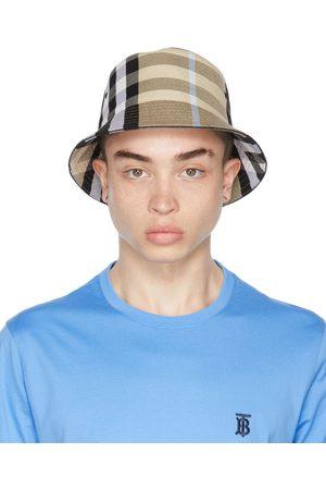 Burberry Beige Cotton Check Bucket Hat