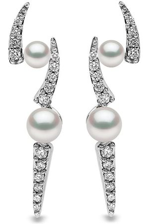 Yoko London Damen Ohrringe - 18kt Weißgoldohrstecker mit Akoya-Perlen und Diamanten