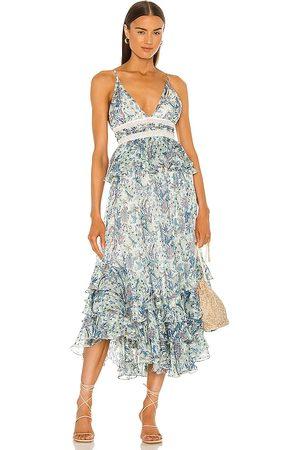 ROCOCO SAND Braw Strappy Maxi Dress in . Size S, XS.