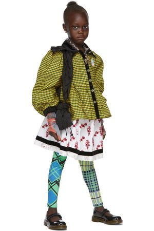 Chopova Lowena SSENSE Exclusive Kids White & Red Gathered Pull Skirt
