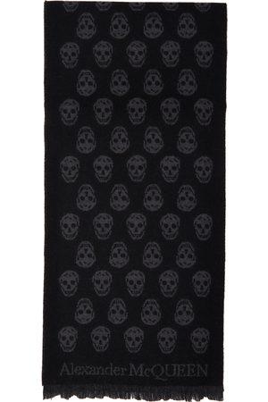 Alexander McQueen SSENSE Exclusive Black Wool All Over Skull Scarf
