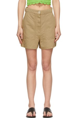 Loewe Khaki Linen Shorts