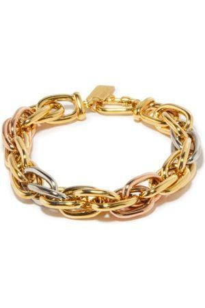 Lauren Rubinski Trinity Rope 14kt & Rose- Bracelet