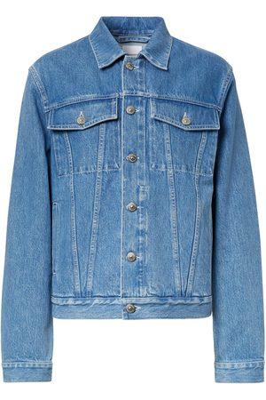 Burberry Ausgeblichene Jeansjacke mit Logo