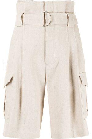 GOEN.J Shorts mit Paperbag-Taille