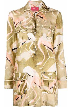 F.R.S For Restless Sleepers Hemdkleid mit Flamingo-Print