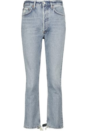 AGOLDE High-Rise Cropped Jeans Riley
