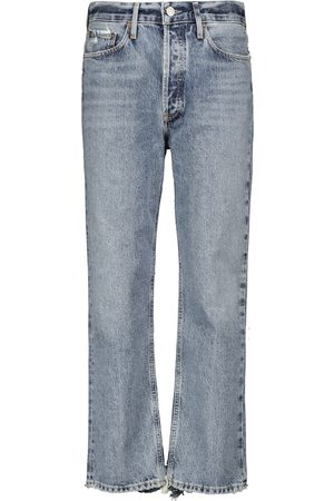 AGOLDE Mid-Rise Straight Cropped Jeans Lana