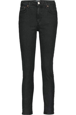 AGOLDE Mid-Rise Slim Straight Jeans Toni