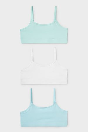 Here and There Mädchen Bustiers - C&A Multipack 3er-Bustier-Bio-Baumwolle