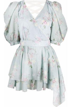 ULYANA SERGEENKO Kleid mit Blumen-Print